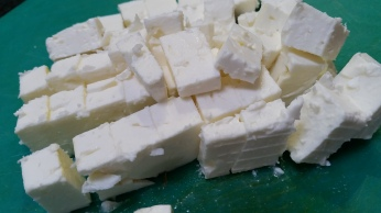 Feta cheese, cubed
