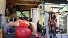 Sit ups on ball