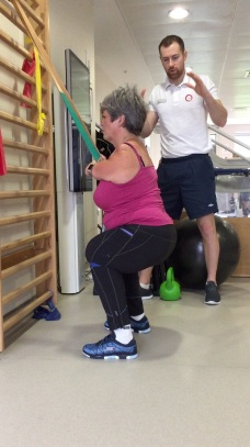 Supported squat